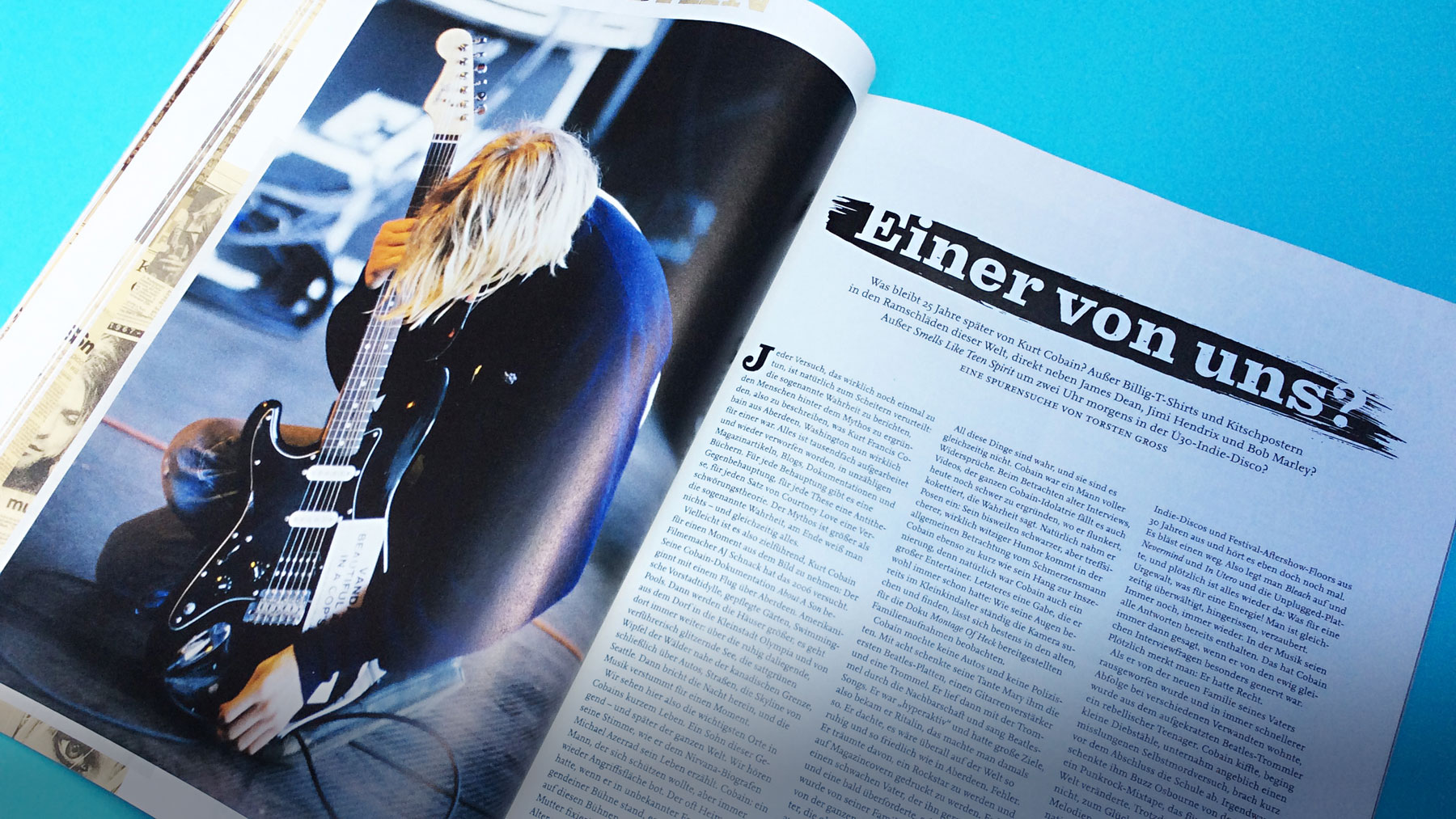 Curt Cobain special in the Visions Music Magazine